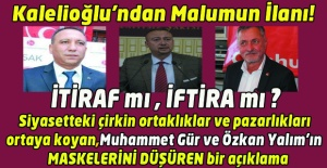 CHP Belediye Başkanı Adayı Asım Kalelioğlu İtirafta mı bulunuyor? İftira mı ediyor?