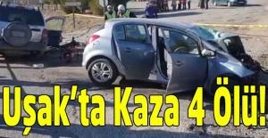 İki aracın kafa kafaya çarpıştığı kazada 4 kişi hayatını kaybetti!
