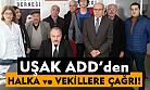 ADD Uşak Şubesi, anayasa değişikliği için 'hayır' çağrısı yaptı!