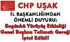 CHP Genel Başkanı Kılıçdaroğlu yayınladığı genelge ile toplu yürüyüş etkinliklerini iptal etti