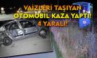 Müftülük personelini taşıyan araç kaza yaptı! 4 yaralı!