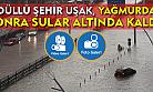 Ödüllü şehir Uşak'ın yağmurdan sonra ortaya çıkan görüntüleri!