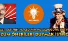Sayın Kılıçdaroğlu; halen mi Amerika?