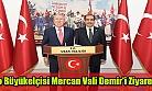 Tokyo Büyükelçisi Hasan Murat Mercan ve beraberindekiler Vali Salim Demir'i makamında ziyaret etti!