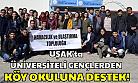 Üniversiteli gençlerden Uşak'ta köy okuluna destek!