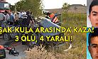 Uşak-Kula arasında 2 araç kafa kafaya çarpıştı! 3 ölü, 4 yaralı!