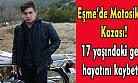 Uşak'ta 17 yaşındaki motosiklet sürücüsü genç kazada hayatını kaybetti!