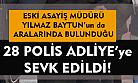 Uşak'ta gözaltına alınan 28 polis, adliyeye sevk edildi!