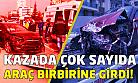 Uşak'ta çok fazla aracın karıştığı kazada 3 kişi yaralandı!