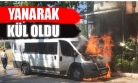 Uşak'ta Park Halindeki Minibüs Yandı!