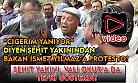 Uşak'ta şehit cenazesine katılan Bakan Yılmaz'a, Ak Partili vatandaştan protesto!