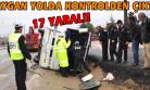 Uşak'ta Servis Midibüsü Devrildi! 17 Yaralı!