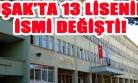 Uşak'taki Mesleki ve Teknik Liselerin Yeni İsimleri!
