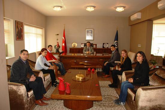 Uşak Kent Konseyi Gençlik Meclisinden Rektör Şişman a Ziyaret..