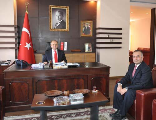 Uşak Tabip Odası Başkanı Tarkan Amuk tan Vali ÇAKACAK a Ziyaret.