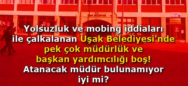 Uşak Belediyesi'ne Müdür aranıyor, müracatlar şahsen UTAŞ'a yapılacak!