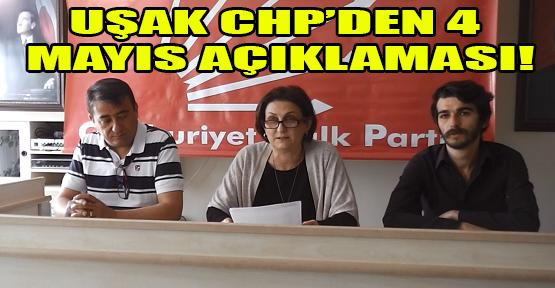 CHP Uşak İl Teşkilatı: 4 Mayıs'ta yaşanan Saray darbesidir!