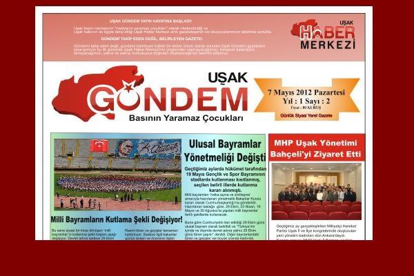 Uşak Gündem Gazetesi, Bugün Yayın Hayatına Başladı!