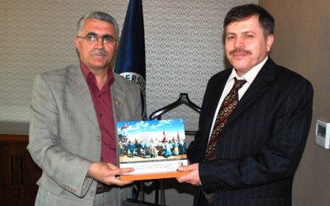 Uşak Kent Konseyi'nden Yeni Rektör Prof.Dr. Sait Çelik'e Ziyaret..
