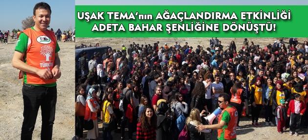Uşak TEMA Vakfı, Uşak'ı ağaçlandırmaya devam ediyor!