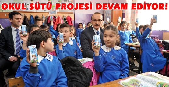 Uşaklı Öğrencilere Süt Dağıtıldı!