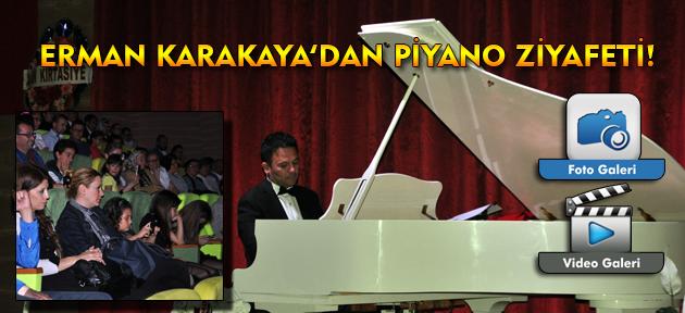 Uşaklı Piyanist Erman Karakaya'dan müthiş piyano resitali!