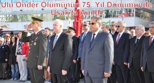 Uşak'ta 10 Kasım Atatürk'ü Anma Etkinlikleri Düzenlendi!