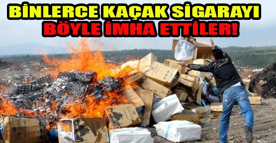 Uşak'ta 125 Bin Paket Kaçak Sigara İmha Edildi!