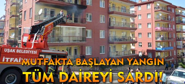 Uşak'ta 7 katlı apartmanda yangın çıktı!