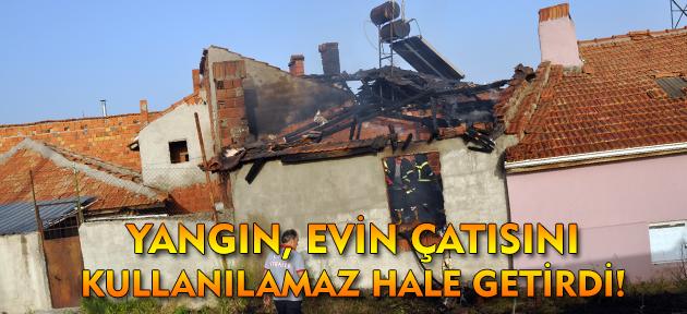 Uşak'ta bir evde çıkan yangın mahalleliyi korkuttu!