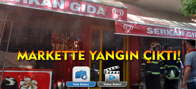 Uşak'ta bir markette yangın çıktı!