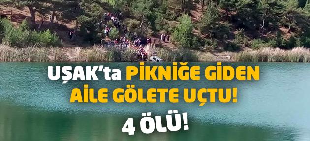 Uşak'ta feci kaza! Pikniğe giden aileden 4 kişi öldü!