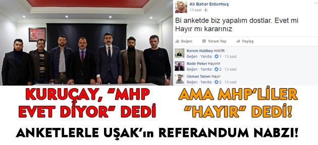 Uşak'ta MHP'ye oy verenlerin neredeyse tamamı hayır verecek! Anlaşılan o ki Uşak'ta Hayır açık ara önde çıkacak