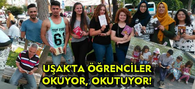 Uşak'ta öğrenciler herkesi kitap okumaya bekliyor!