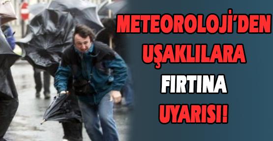 Uşak'ta Şiddetli Rüzgarın Getireceği Olumsuzluklara Karşı Vatandaşlar Uyarıldı!