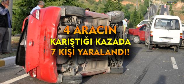 Uşak'ta üniversite kavşağında kaza! 7 yaralı!