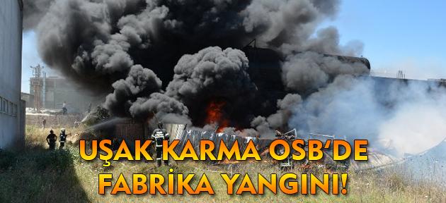 Uşak'ta yine bir fabrikada yangın çıktı!