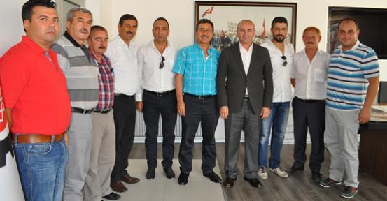 UTSO Yönetimi Başkan Erdoğan'ı Makamında Ziyaret Etti