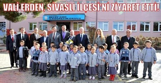 Vali Erden: İlçelerimizde eğitim için önemli yatırımlar yapılıyor!