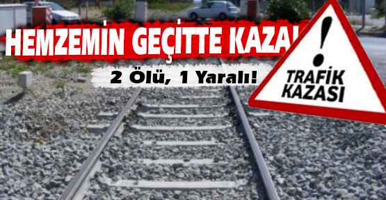 Yolcu Treni, Hemzemin Geçitteki Minibüse Çarptı!