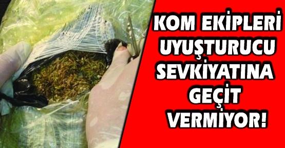 Yorgan ve Battaniye Arasında Gizlenmiş 65 Kilo Esrar Yakalandı!