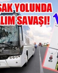 Yolcu Otobüsü, İl Özel İdareye Ait Kamyona Arkadan Çarptı!