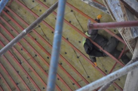 Camii İnşaatının Kubbesinde Mahsur Kalan İşçi Kurtarıldı!