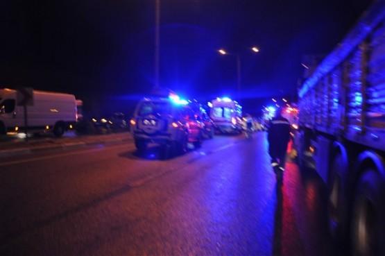 Uşak'ta kaza! Çarpışma sonucu yolcu otobüsü devrildi!