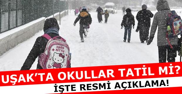 Uşak'ta okullara kar tatili