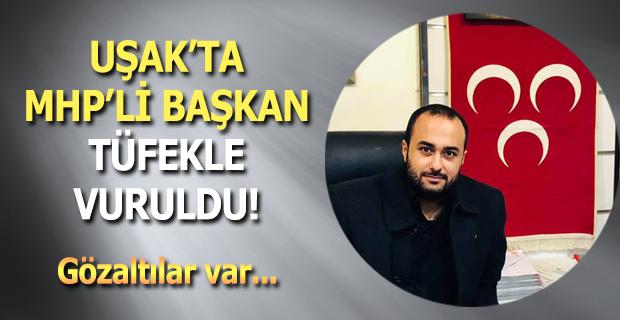 MHP'li başkan pompalı tüfekle vuruldu!