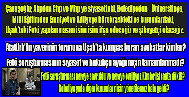 Gazeteci Nurullah Çavuşoğlu kuruluşundan bu yana Uşak Haber Merkezi ve Son Nokta Gazetesinin Fetö ile mücadele sürecini anlattı.