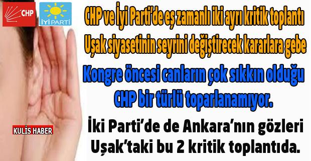CHP ve İyi Partide, kriz masaları toplanıyor. Kılıçlar çekilecek mi? Yoksa uzlaşı kararları mı çıkacak?