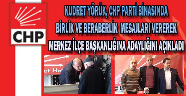 Kudret Yörük, Uşak CHP Merkez İlçe Başkanlığına adaylığını açıkladı