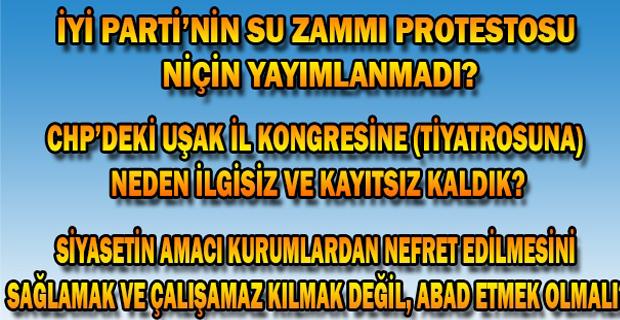 Mehmet Çakın ve Belediye ile ilgili Uşak halkı ve esnafının tavrı nasıl olmalı?
